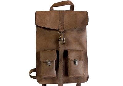 Leather Survey Backpack